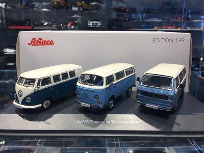 吉華科技@ 1/43 Schuco 450374400 3-assort.Set VW TRANSPORTER