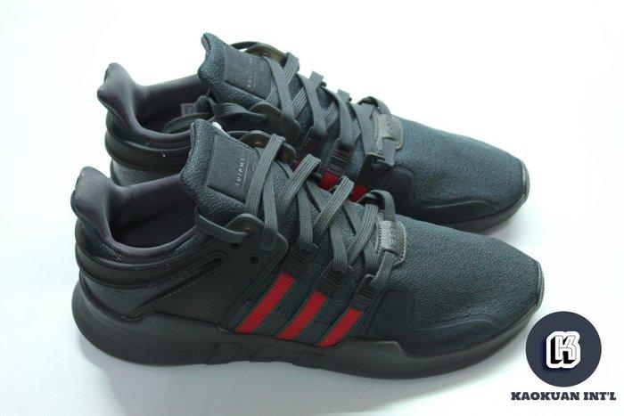 【高冠國際】ADIDAS EQT SUPPORT ADV 全黑 紅綠 配色 慢跑 皮革 男女鞋 BB6777