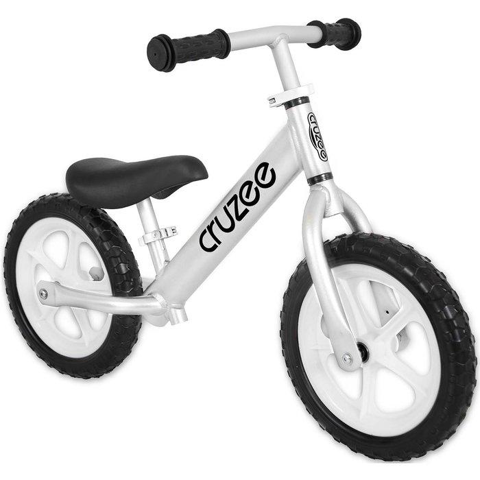 (CRUZEE) 超輕量鋁合金平衡滑步車 Push Bike 銀色 (共九色)