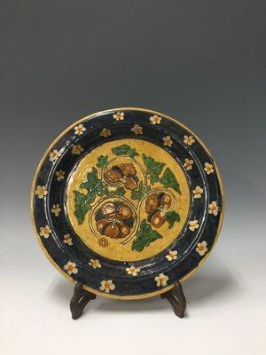 〈長輩的私藏古瓷〉老件三彩盤