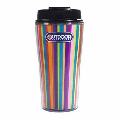 **戀家日本雜貨舖**日本OUTDOOR彩虹條紋咖啡隨手杯