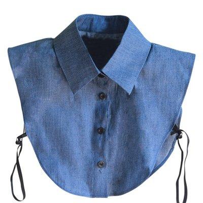 假領子襯衫領片-牛仔藍色尖領純棉女裝配件73vk13[獨家進口][米蘭精品]