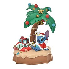 *FollowV*日本雜貨《預購》夏威夷聖誕 史迪奇與醜丫頭 聖誕老人/椰子樹 LED燈小夜燈 11月迪士尼商店