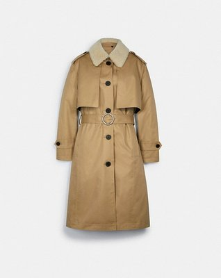 Coach Trench With Reversible Buffalo Plaid Liner