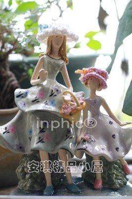 INPHIC-母親節 母女情深 陶瓷擺設擺飾一對