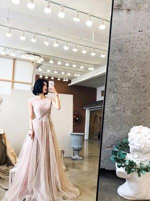 shallow豆沙氣質時尚 艾莉設計宴會年會高端演出派對主持人晚禮服