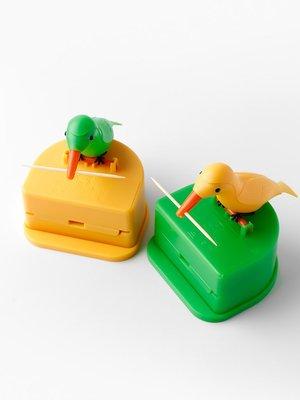 牙簽盒創意小鳥啄食按壓式智能牙簽筒創意自動彈出可愛小鳥牙簽罐#收納盒#居家#方便#創意