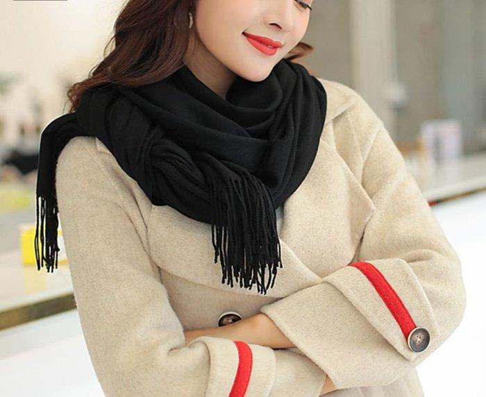 !現貨區!  韓國秋冬仿羊絨披肩流蘇圍巾