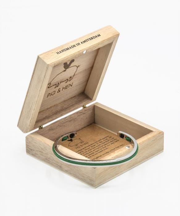 【紐約范特西】預購 PIG & HEN NAVARCH 6 N6-SS20-156000 草綠編織/銀環 船繩手環