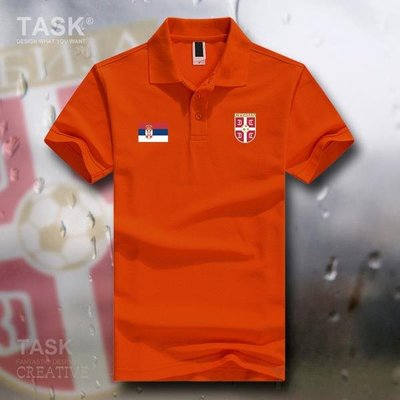 TASK 塞爾維亞Serbia男女翻領Polo衫足球隊服國家隊短袖T恤衫夏季