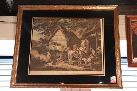 【卡卡頌 OMG歐洲跳蚤市場 / 西洋古董 】歐洲古董百年老銅板印刷藝術掛畫 pa0051