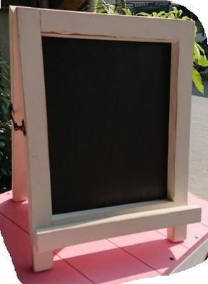 zakka糖果臘腸鄉村雜貨坊      木作類.. orange 桌型黑板/雙面黑板(咖啡廳看板廣告pop立體字落款擺攤