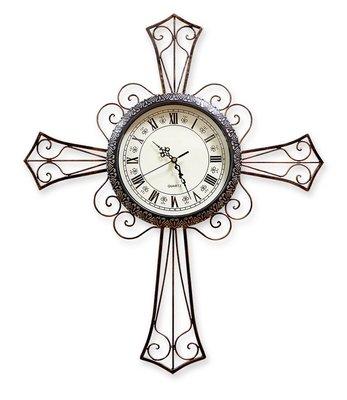 基督教禮品  基督教 教會  古典十字架時鐘 幸福小組禮物