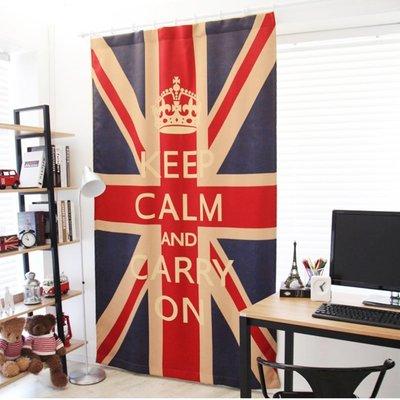 英國國旗經典遮光窗簾【單片 寬130*高 230 公分】米字旗UK室內設計最流行配件