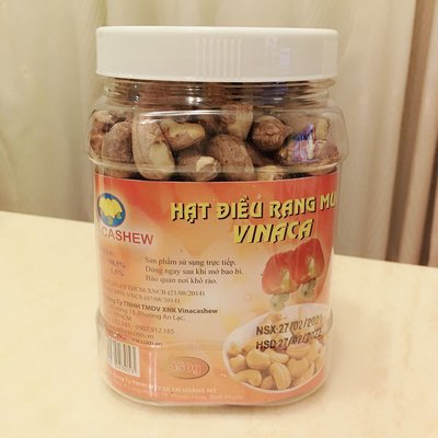 【米樂小鋪】12罐全家免運區 vinacashew越南鹽焗帶皮腰果450g 越南腰果 帶殼腰果