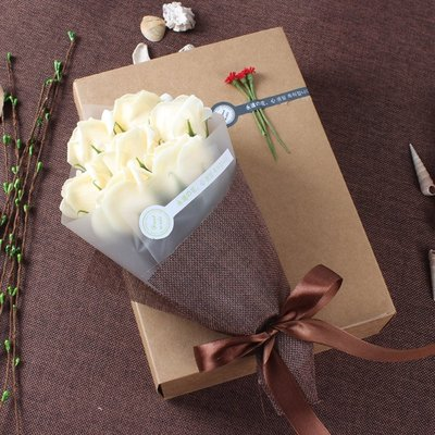 畢業禮物送女生老師紀念品古風幼兒園成人生日香皂花禮盒玫瑰花束