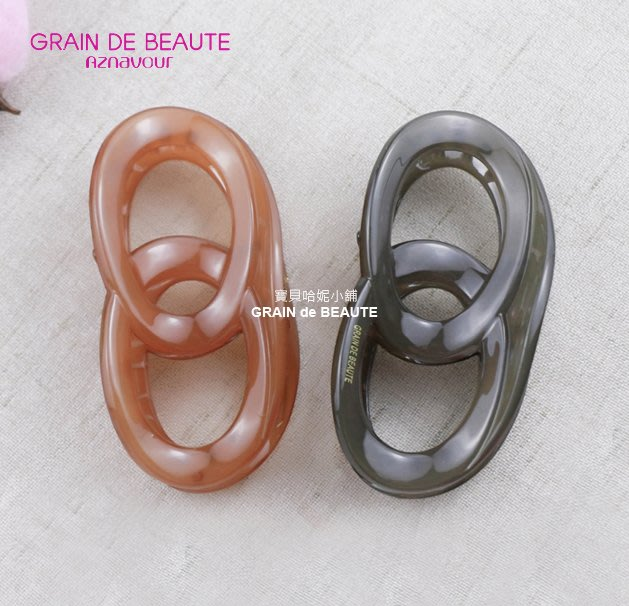BHJ627-法國品牌Grain de Beaute 簡約糖果風鯊魚夾 抓夾【韓國製】Aznavour