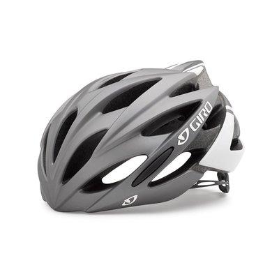 【單車元素】GIRO Savant AF 自行車 公路車 安全帽 消光鈦色/白 L號