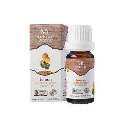 【澳洲 Mt.retour】滿額免運~山迴有機100%天然檸檬精油Lemon 10ml 超新鮮現貨
