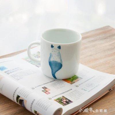 創意純手工手繪陶瓷貓咪水杯日式可愛兔子牛奶咖啡杯子    全館免運