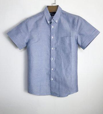 ☆COOKIE@A.P.C☆100%純棉素色襯衫-百搭淡藍色-短袖一件!!100%正品--出清XXS