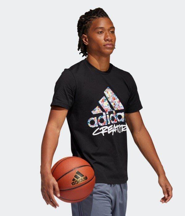 【吉米.tw】ADIDAS 運動休閒 籃球 LOGO 短T 短袖上衣 男款 黑DX6891 白DX6892 AUG