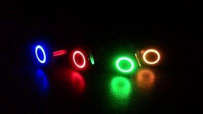 各式 電腦 3D列印機 家電 燈具 音響 LED金屬開關 110V 15A 天使眼開關 IP67 {自鎖式} 19mm
