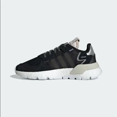零碼特價FOCA Adidas Originals Nite Jogger 黑白 反光 老爹鞋 增高 女鞋 CG6253