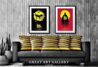 ABOUT。R 暗黑騎士蝙蝠俠三部曲batman復古海報個性裝飾畫有框畫電影海報美式創意版畫掛畫(3款可選)