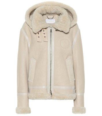 HJ國際精品館19秋冬Chloé CHC19ACV07205 Hooded shearling羊毛外套