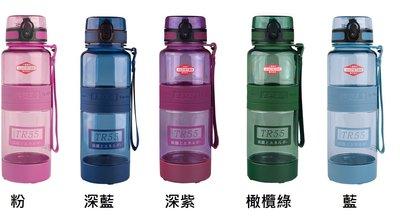 新款太和工房 TR55T  藍色/粉/深紫 /橄欖綠/深藍 負離子元素運動水壺1000ml , 不銹鋼內蓋TR-1000