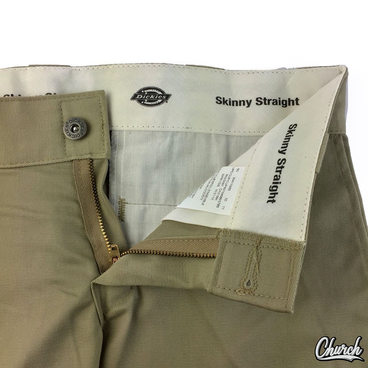 Dickies Mens Desert Sand FLEX Skinny Straight Fit Work Pants WP801DS