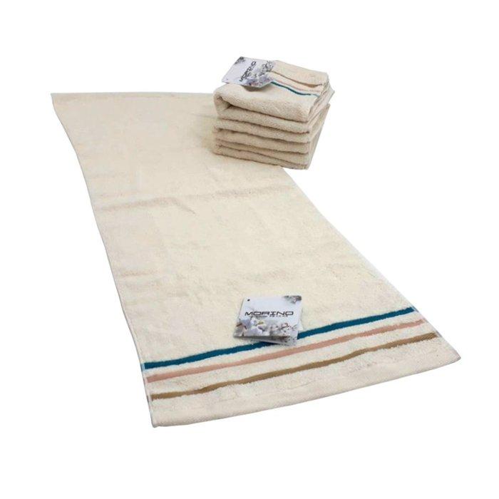 【MORINO摩力諾】有機棉三緞條毛巾(超值3條組)免運
