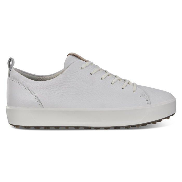 ┌喻蜂高爾夫┐ECCO 男高爾夫球鞋 白 休閒無釘款 現貨41~43號