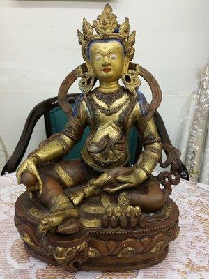 老件大品~銅鎏金密宗佛像 重量~4655g