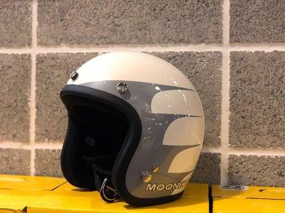 喆凡 Mooneyes 2代 台灣限定 復古 小帽體 安全帽 gogoro Vespa triumph Honda Yamaha BMW Rninet 復古白色