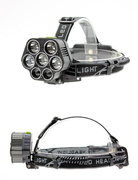 7LED 5T6強光充電頭燈 夜釣燈 狩獵5T6+LTS超強頭燈 7燈頭燈釣魚頭燈 手電筒 強光露營燈