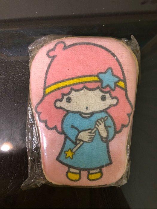 全新 正版 已絕版 kikilala 雙子星 lala 粉紅色 洗澡 海棉 沐浴