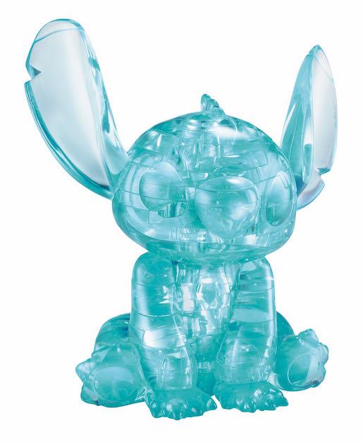 日本進口拼圖 迪士尼 STITCH 史迪奇 星際寶貝 43片3D立體塑膠透明水晶拼圖 76180