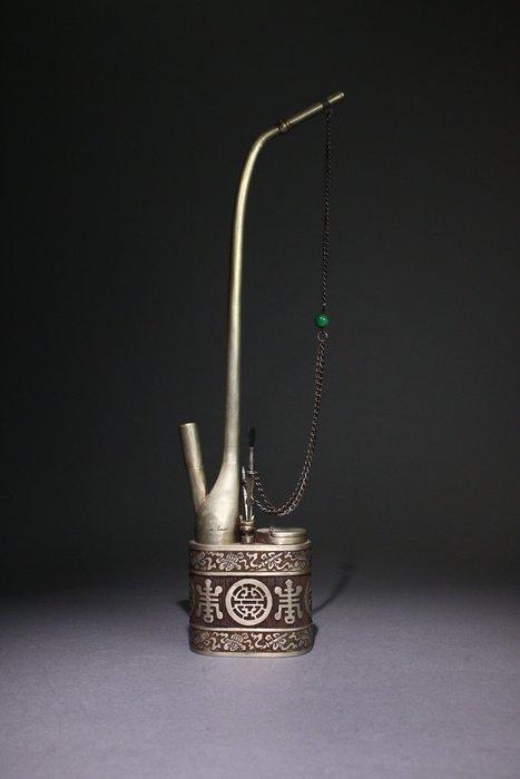 悅年堂 --- 白銅 水煙袋