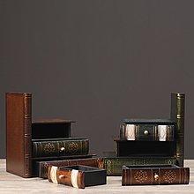 〖洋碼頭〗北歐式復古假書書擋書立書房書櫃房間裝飾品仿真書小首飾盒擺件 hbs249