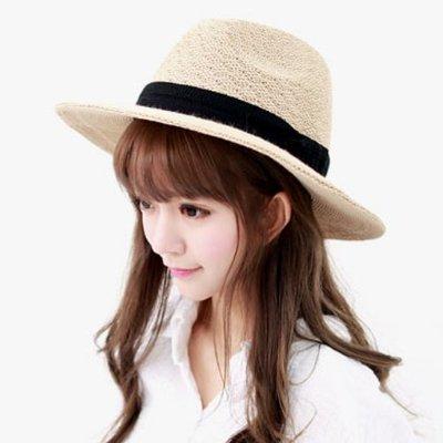 Ocean     Shop《韓國進口.正韓.韓製─X003 夏款紳士帽》米色  現貨