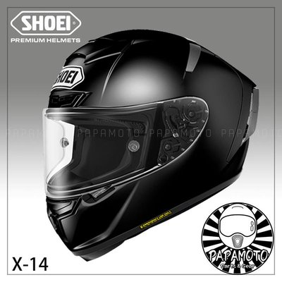 【趴趴騎士】SHOEI X14 全罩安全帽 亮黑 ( X-14 X-Fourteen SNELL 賽車等級