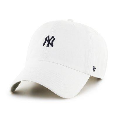 【血拼妞】現貨 47 BRAND NEW YORK YANKEES ABATE Clean Up 洋基 老帽 白色