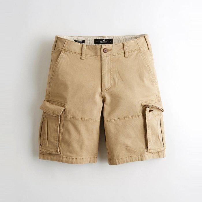 【HOLLISTER Co.】【HCO】HC男款工作短褲19款淺卡其 F07190716-13