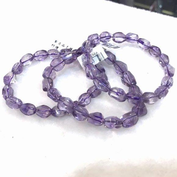 『純天然水晶量販』天然紫水晶手鍊~早期商品亮透度超棒 約16~19公克