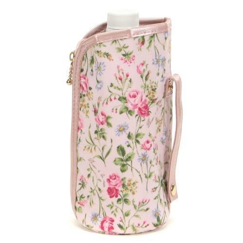 ~~凡爾賽生活精品~~全新日本進口粉紅色玫瑰花園造型保溫水壺袋.收納袋