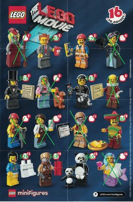 LEGO MINIFIGURES 71004 THE LEGO MOVIE (散買,包平郵)
