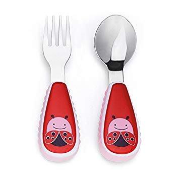 ~❤美國寶寶的衣櫥❤~(現貨)美國Skip Hop 可愛動物園湯匙叉子組-小甲蟲