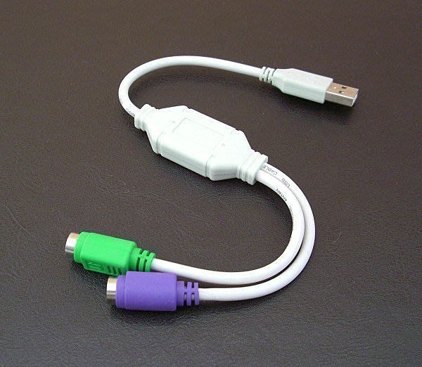 【樺仔3C】USB 轉 PS2 2孔 雙埠 轉接線 鍵盤 滑鼠 KB MOUSE 轉接頭 轉換器